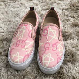 Gucci ghost slip on sneakers